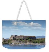 new fortress and port Corfu town Greece Weekender Tote Bag