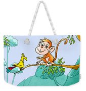 New Friends In The Jungle Weekender Tote Bag