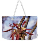 New Growth On A Shea Tree.  A Flower Weekender Tote Bag