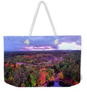 New Hampshire Fall Sunset Over Pond Weekender Tote Bag