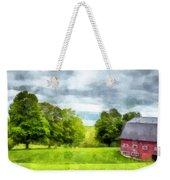 New Hampshire Landscape Red Barn Etna Weekender Tote Bag