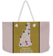 New Hampshire Loves Dogs Weekender Tote Bag