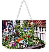 New Hope Pa - Garden Of Ceramic Mushrooms Weekender Tote Bag