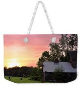 New Jersey Barn Sunset Weekender Tote Bag