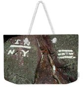 New Jersey New York State Line Of The Appalachian Trail Weekender Tote Bag