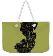 New Jersey Typographic Map 4a Weekender Tote Bag