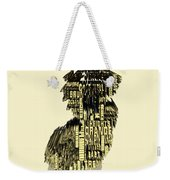 New Jersey Typographic Map 4d Weekender Tote Bag