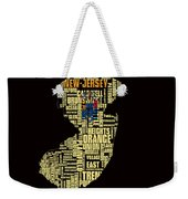 New Jersey Typographic Map 4g Weekender Tote Bag