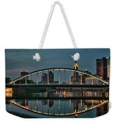 New Main Street Bridge At Dusk - Columbus, Ohio Weekender Tote Bag