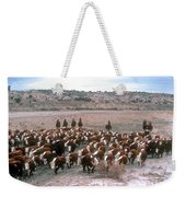 New Mexico Cattle Drive Weekender Tote Bag