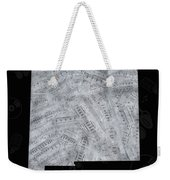 New Mexico Map Music Notes 2 Weekender Tote Bag