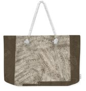 New Mexico Map Music Notes 3 Weekender Tote Bag
