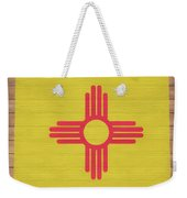 New Mexico Rustic Map On Wood Weekender Tote Bag