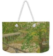 New Mills And Reflection Of Spring Weekender Tote Bag