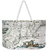 New Netherland Map Weekender Tote Bag