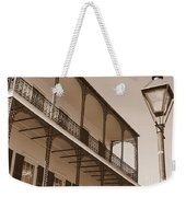 New Orleans Balcony With Lamp Weekender Tote Bag