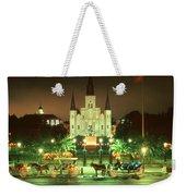 New Orleans Night Photo - Saint Louis Cathedral Weekender Tote Bag