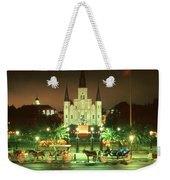 New Orleans Night Photo - Saint Louis Cathedral Weekender Tote Bag