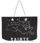 New Orleans Saints Art - Nfl Football Wall Print Weekender Tote Bag by Damon Gray