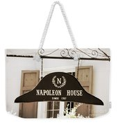 New Orleans Sign - Napoleon House - Sepia Weekender Tote Bag