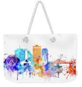 New Orleans Watercolor Skyline Weekender Tote Bag