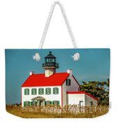New Paint On East Point Lighthouse Weekender Tote Bag