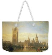New Palace Of Westminster From The River Thames Weekender Tote Bag