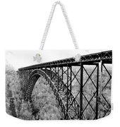 New River Gorge Bridge Bw Weekender Tote Bag