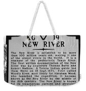 New River Historical Marker Weekender Tote Bag