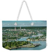 New Rochelle From The Long Island Sound Weekender Tote Bag