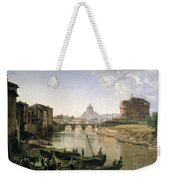 New Rome With The Castel Sant Angelo Weekender Tote Bag