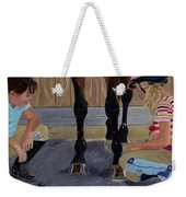New Shoe Review Horse And Children Painting Weekender Tote Bag