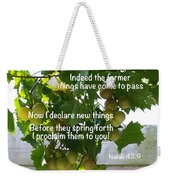 New Things Scripture Weekender Tote Bag