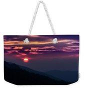 Smoky Mountain Sunset Weekender Tote Bag