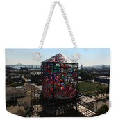 Stained Glass Water Tower In Milwaukee Weekender Tote Bag