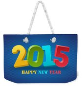 New Year 2015 Weekender Tote Bag