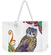 New-year Owl Weekender Tote Bag