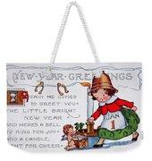 New Year Postcard Weekender Tote Bag