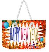 New Year's Greetings Weekender Tote Bag
