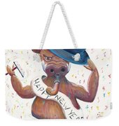 New Years Hog Weekender Tote Bag