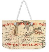 New York And Erie Railroad Map 1855 Weekender Tote Bag