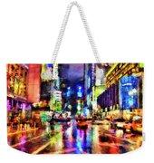 New York At Night - 14 Weekender Tote Bag