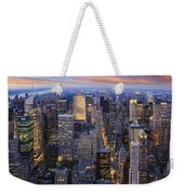New York At Night Weekender Tote Bag