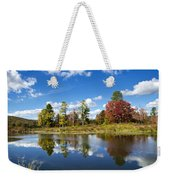 New York Autumn Landscape Weekender Tote Bag