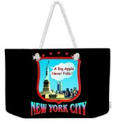 New York Big Apple Design Weekender Tote Bag