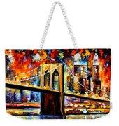 New York Brookyln Bridge Weekender Tote Bag