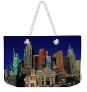 New York Casino At Night Weekender Tote Bag