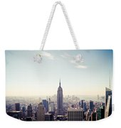 New York City - Empire State Building Panorama Weekender Tote Bag