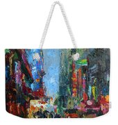 New York City 42nd Street Painting Weekender Tote Bag