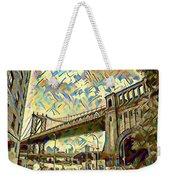 New York City - Brooklyn Bridge Watercolor Weekender Tote Bag